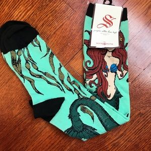 770f2bf1e SockSmith Accessories - SockSmith Mermaid Graphic Cotton Knee High Socks